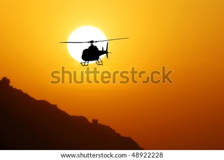 helicopter to return from the mission