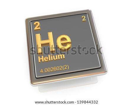 Helium. Chemical element. 3d - stock photo