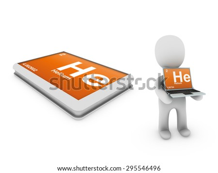 Helium element - stock photo