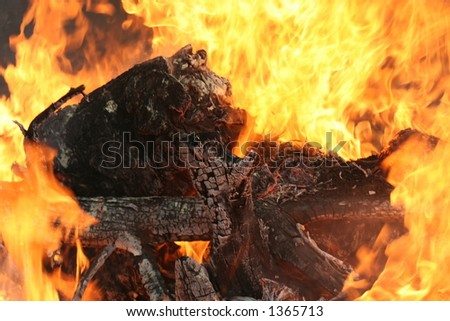 hell fire - stock photo