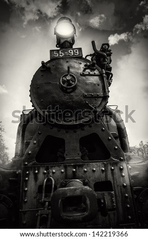 hell of a steam locomotive - stock photo