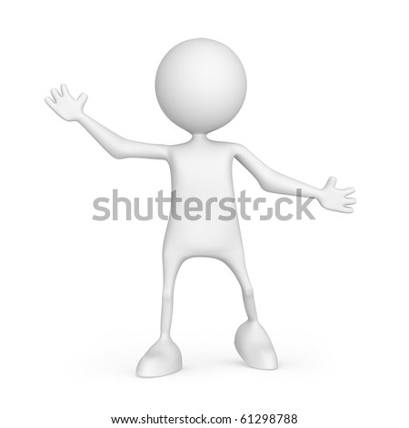 Hello. 3d images isolated on white background