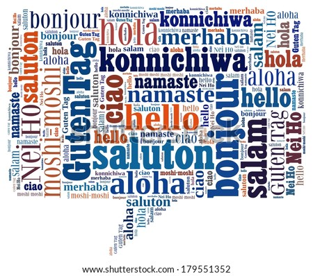 Hello in different languages - stock photo