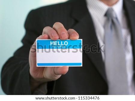 Hello my name is... - stock photo