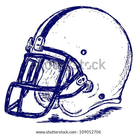 Helmet football. Raster - stock photo