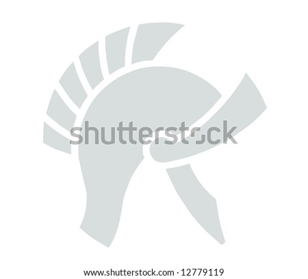 Helmet illustration - stock photo