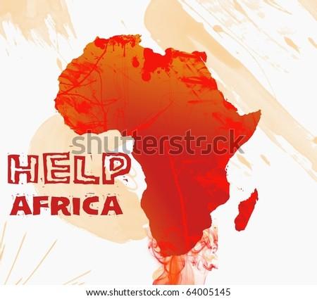 Help Africa - stock photo
