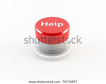 Help button - stock photo