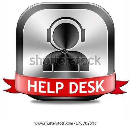 help desk button or online support call center customer service - stock photo