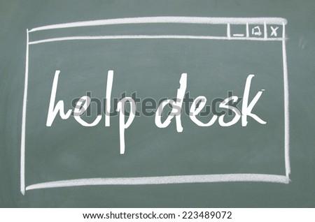 Help Desk Web Window On Blackboard Design Inspirations