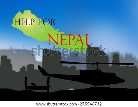 Help for NEPAL Earthquake Crisis nature - stock photo