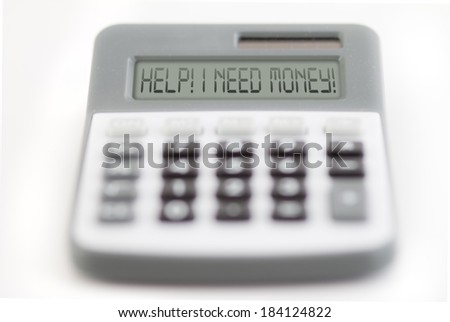 help - I need money - stock photo