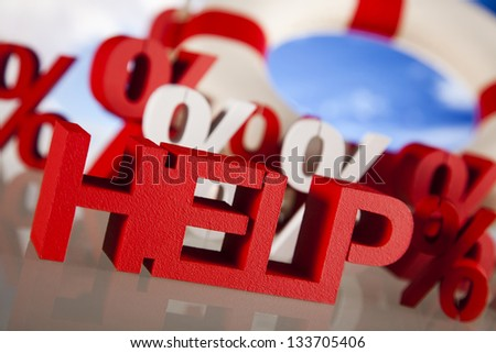 Help in finance crisis - stock photo