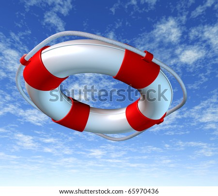 Help life preserver save belt emergency relief rope symbol sky