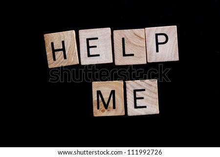 Help Me - stock photo