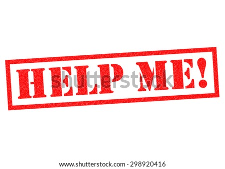 HELP ME! red Rubber Stamp over a white background. - stock photo
