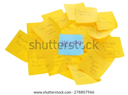 Help note on lots of appointment notes - stock photo