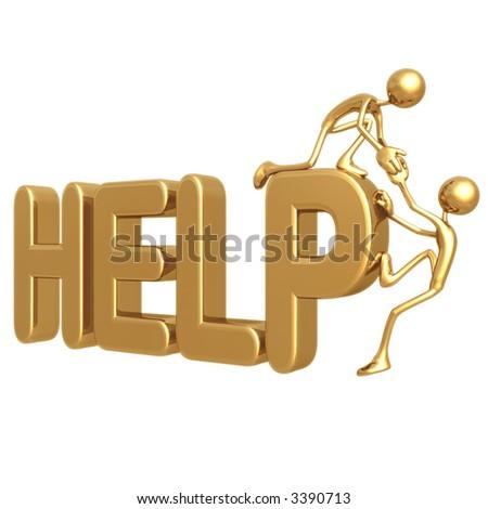 Help Up - stock photo