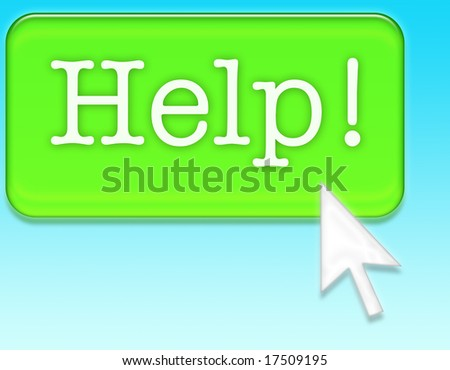 Help! with a mouse arrow - stock photo
