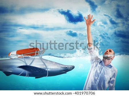 Help with deception - stock photo