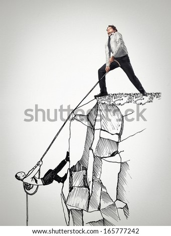 Help with Rope - stock photo