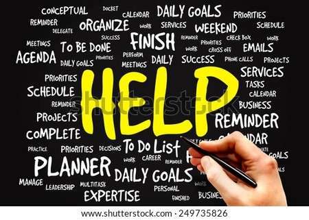 HELP word cloud, business concept - stock photo