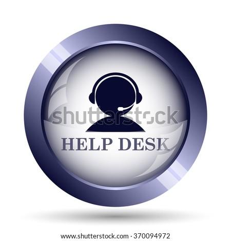 Helpdesk icon. Internet button on white background. - stock photo