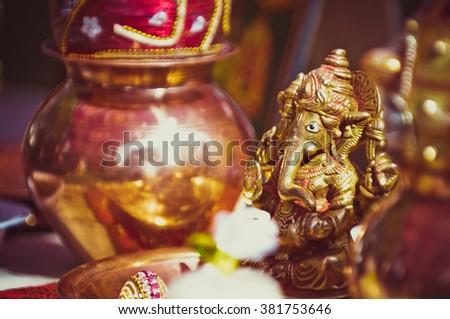 Helpful Hindu man - stock photo