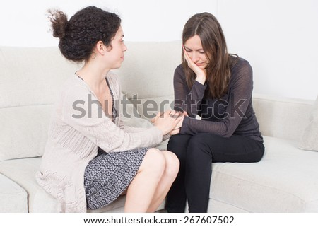 Helping a friend - stock photo