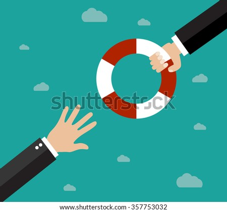 Helping Business to survive. - stock photo