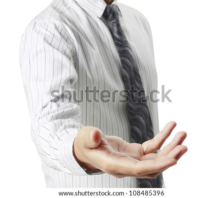 Helping hand in business - stock photo