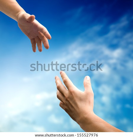 helping hands - stock photo