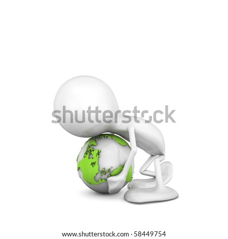 Helping the Planet - stock photo