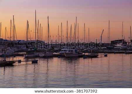 HELSINGBORG, SWEDEN - February 16, 2016: New Marina in central Helsingborg, a city on the south west coast of Sweden. - stock photo