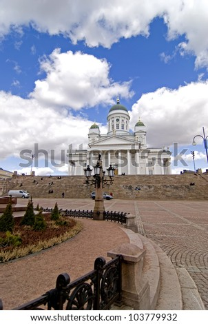 Helsinki cathedral - stock photo