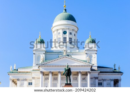 Helsinki Cathedral, the Finnish Evangelical Lutheran cathedral of the Diocese of Helsinki, Helsinki, Finland. - stock photo