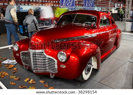 HELSINKI, FINLAND - OCTOBER 3: X-Treme Car Show, showing 1941 Chevrolet Coupe Justiina on October 3, 2009 in Helsinki, Finland - stock photo