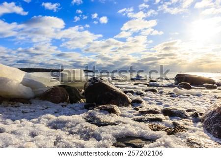 Helsinki, Spring, the ice - stock photo
