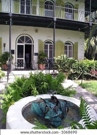 Hemingway House in Key West - stock photo