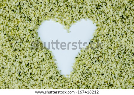 Hemp Hearts Heart - stock photo