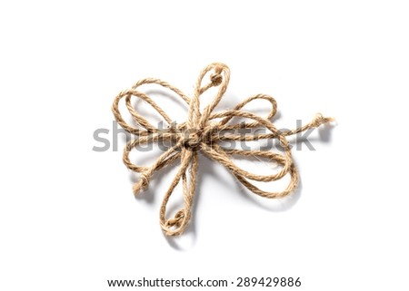 hemp rope on a white background