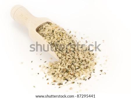 hemp seeds - stock photo