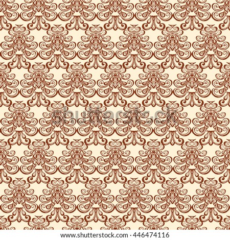 Henna mehndi tattoo doodle seamless pattern background - stock photo