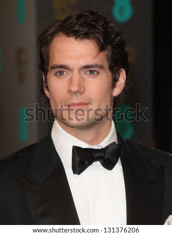 Henry Cavill arriving for the 2013 British Academy Film Awards, at the Royal Opera House, London. 10/02/2013 Picture by: Alexandra Glen - stock photo