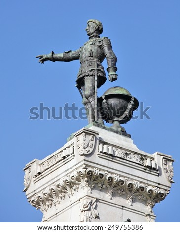 Henry the Navigator Monument (Infante Dom Henrique), Porto, Portugal - stock photo