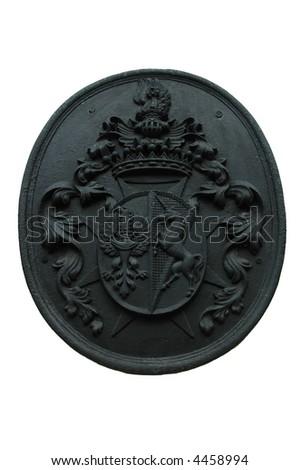 Heraldry of Czech city Breznice isolated - stock photo
