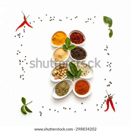 Herb for health on white background. - stock photo
