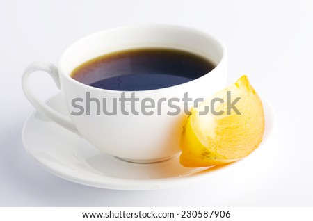 Herbal and fruit teas over white background - stock photo