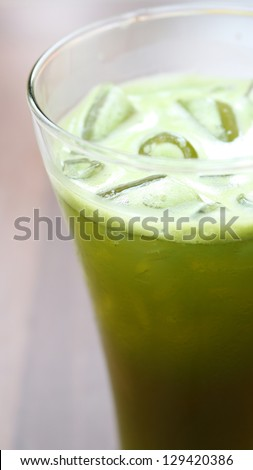 herbal drink : iced hydrocotyle, peppermint,lemongrass juice in thailand