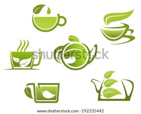 Herbal Drinks Tea Symbols Fast Food Stock Illustration 192235442